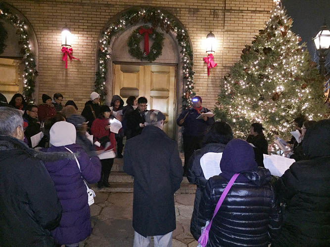 Christmas Carolling with Fr. Thad