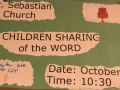 Children sharing of the word